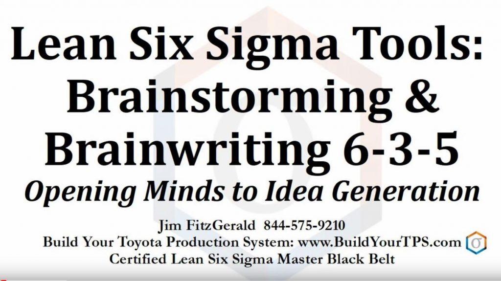 Brainstlrming and Brainwriting 6-3-5