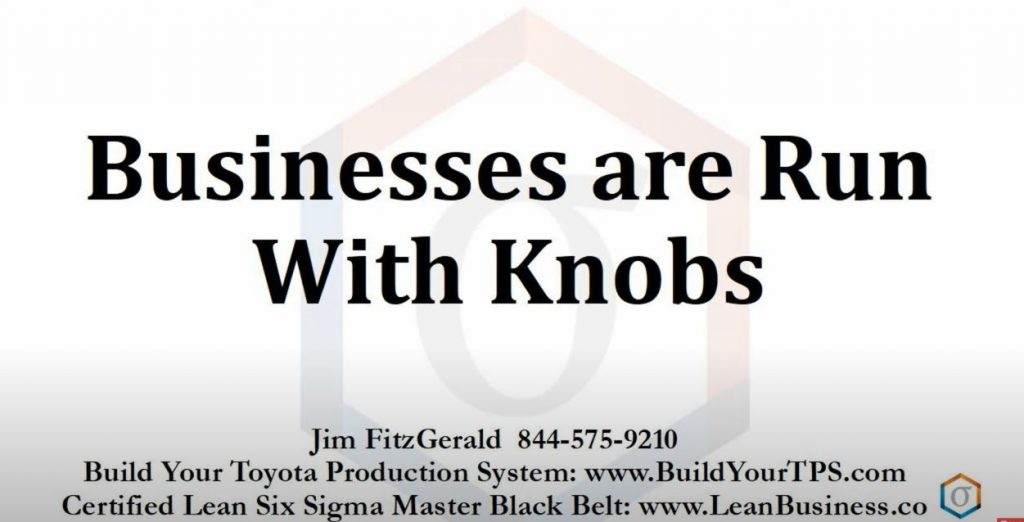 Businesses are run with knobs