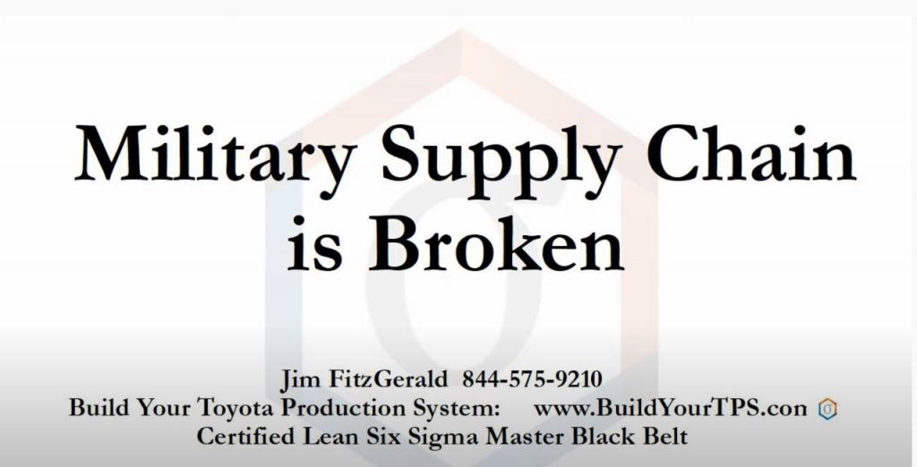 Military Supply Chain is Broken