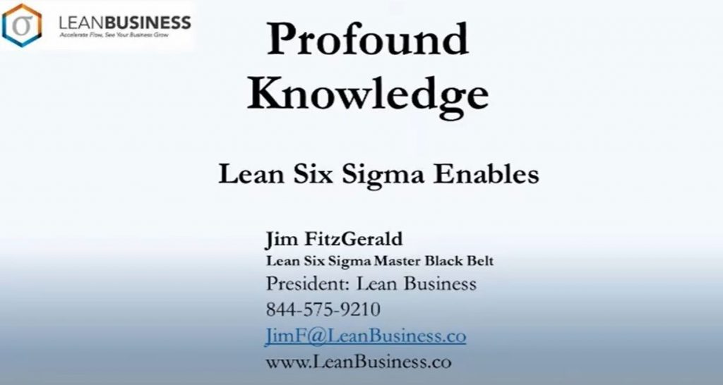 Profound Knowledge of Processes